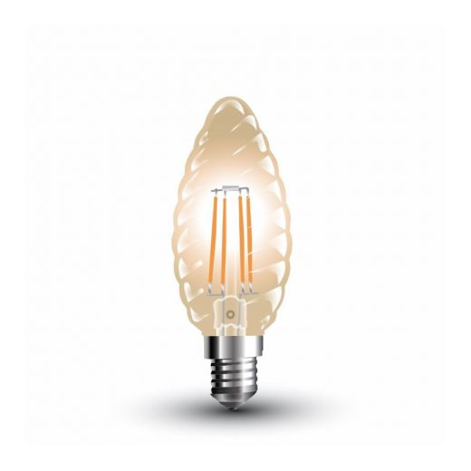 FILAMENT žiarovka - Decor Candle - E14, 4W, 350lm, Teplá biela