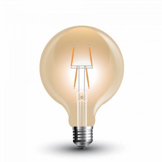 FILAMENT žiarovka - Geometric Shines - E27, 4W, 400lm, Teplá biela