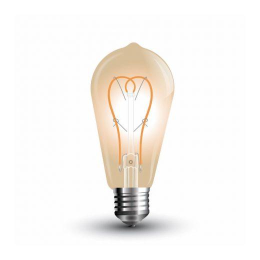 FILAMENT žiarovka - Heart Teardrop - E27, 5W, 300lm, Teplá biela