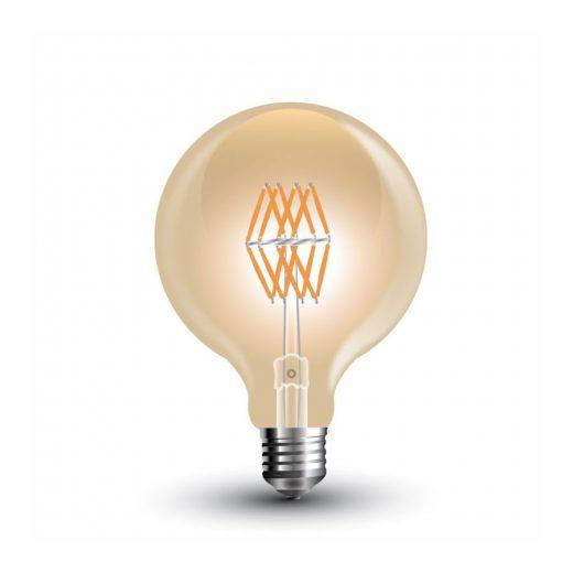 FILAMENT žiarovka - Triangle Globus - E27, 8W, 800lm, Teplá biela