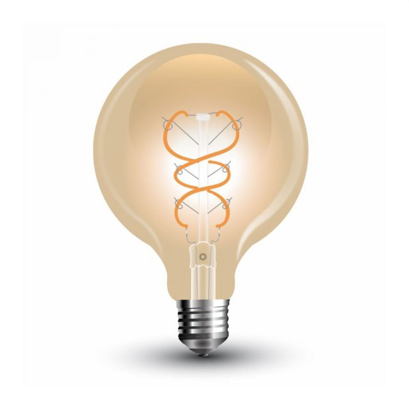 FILAMENT žiarovka - Wave Sphere - E27, 5W, 300lm, Teplá biela