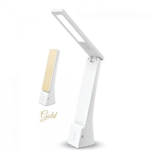 LED Stolová lampa, 4W, 550lm, zlatá farba
