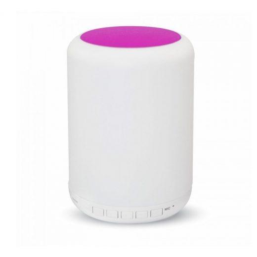 LED Stolová lampa s bluetooth reproduktorom, dotykové ovládanie, ružová farba