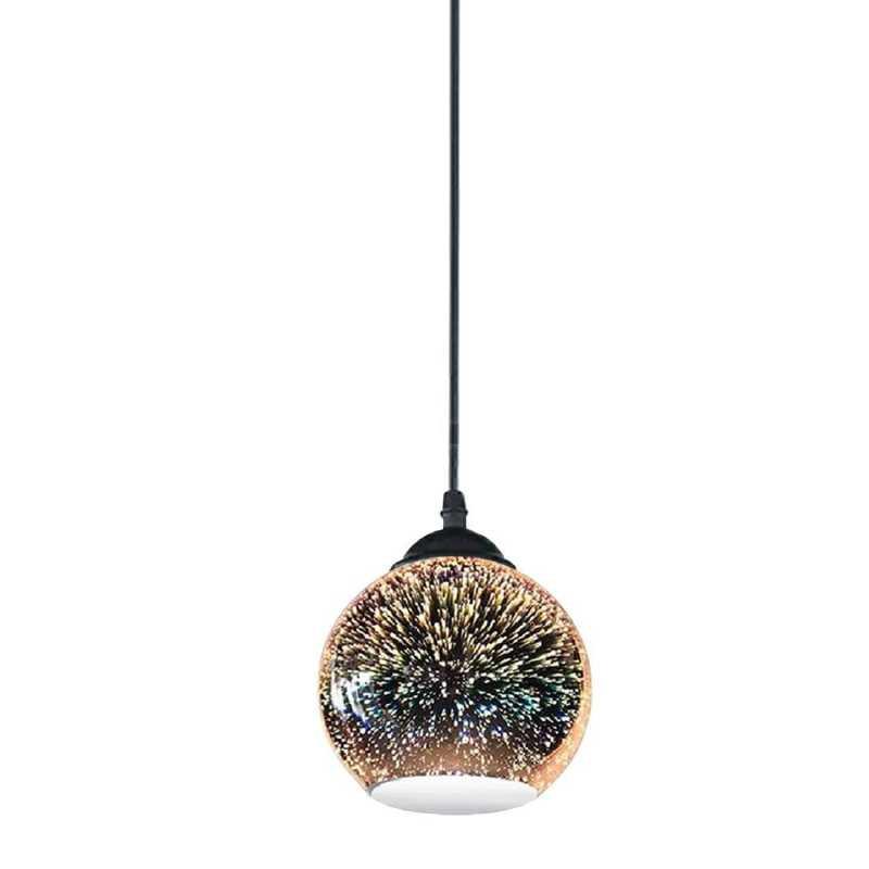 Moderné závesné svietidlo z kolekcie 3D Fireworks, priemer 15cm