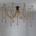 Historické závesné lanové svietidlo Pavúk2