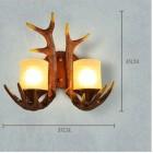 Kreatívne retro nástenné svietidlo s parohami4