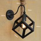 Kreatívne retro nástenné svietidlo v štýle kocky2