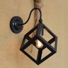 Kreatívne retro nástenné svietidlo v štýle kocky3