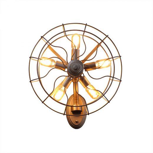 Kreatívne retro nástenné svietidlo v štýle ventilátora1