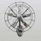 Kreatívne retro nástenné svietidlo v štýle ventilátora2