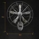 Kreatívne retro nástenné svietidlo v štýle ventilátora7