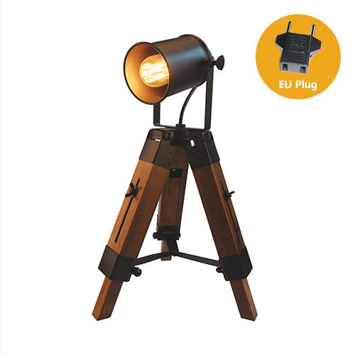 Lampa so stmievačom v štýle Reflektora z prírodného dreva7