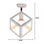 Moderné stropné svietidlo Kocka v bielej farbe (2)