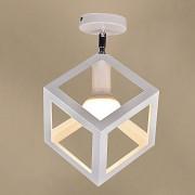 Moderné stropné svietidlo Kocka v bielej farbe (3)