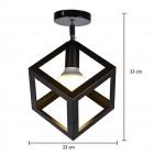Moderné stropné svietidlo Kocka v čiernej farbe (1)