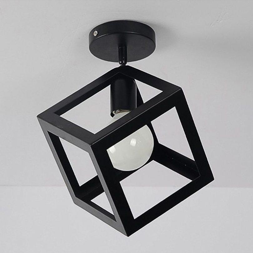 Moderné stropné svietidlo Kocka v čiernej farbe (2)