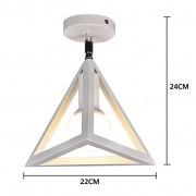 Moderné stropné svietidlo Trojuholník v bielej farbe (2)