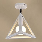 Moderné stropné svietidlo Trojuholník v bielej farbe (3)