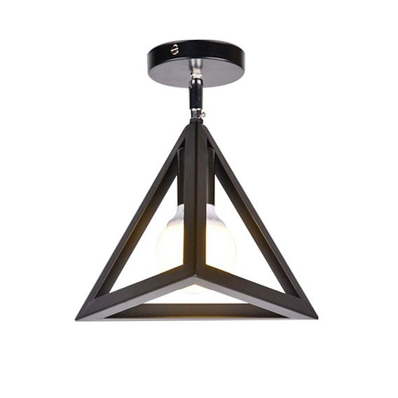 Moderné stropné svietidlo Trojuholník v čiernej farbe (1)
