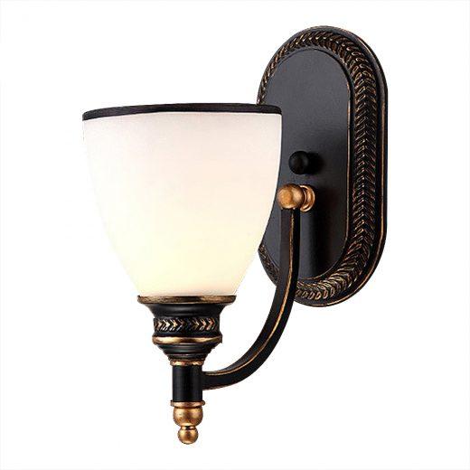 Moderné nástenné svietidlo v retro dizajne so skleneným tienidlom5