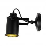 Retro nástenné svietidlo Reflector v čiernej farbe4