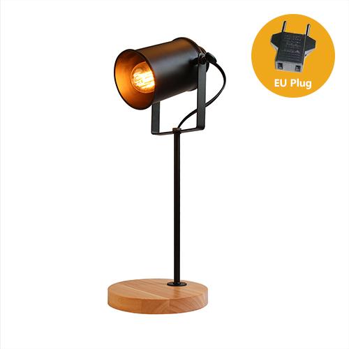 Stolová lampa z prírodného dreva so stmievačom v tvare Reflektora7