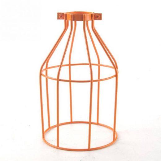 Tienidlo vo forme klietky v pomarančovej farbe • oceľ • ručná výroba
