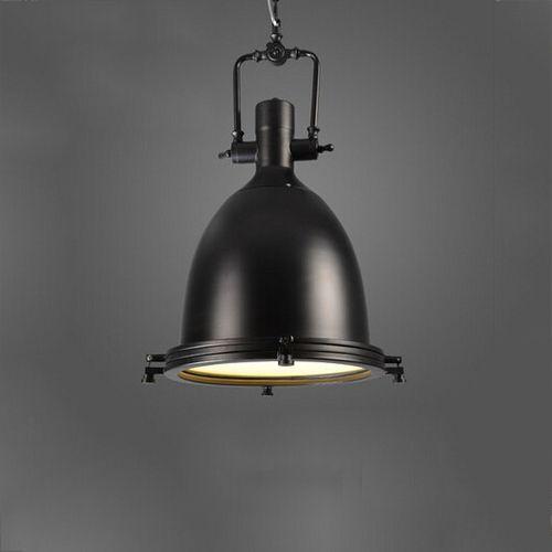 Vintage závesné svietidlo v čiernej farbe, 56 x 36 cm