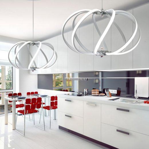 LED Moderné kreatívne závesné svietidlo SPIRAL, Biela 2