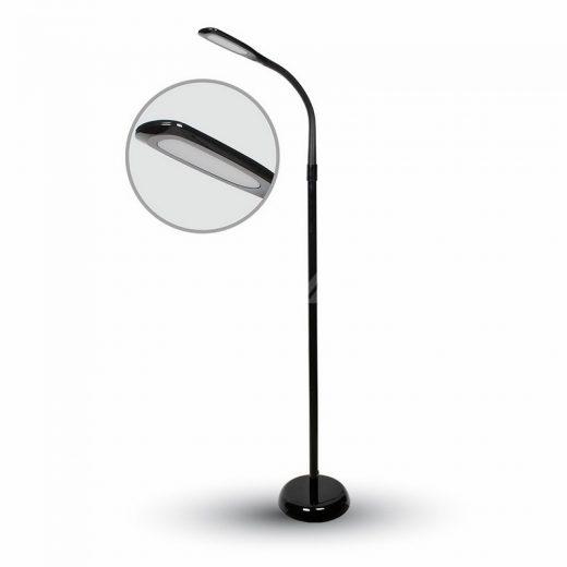 Stojacia lampa 7W v čiernej farbe