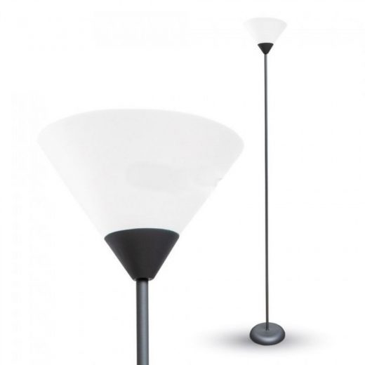 Stojacia lampa E27, čierna