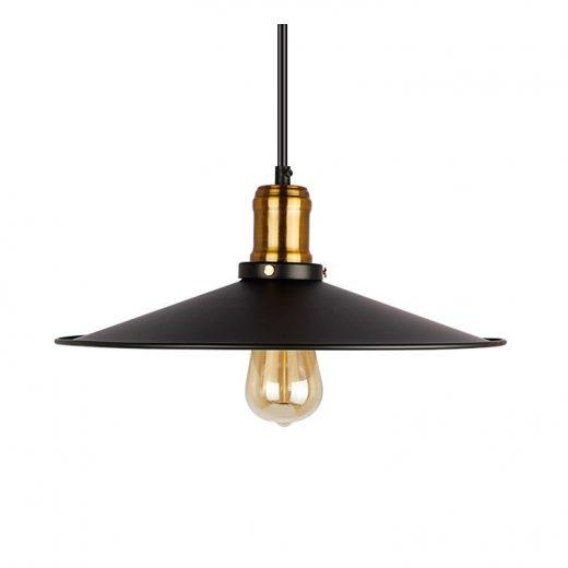 Závesné historické svietidlo s čiernym tienidlom 300mm Je unikátne vďaka materiálu a historickému prevedeniu, ktoré neostane bez povšimnutia (2)