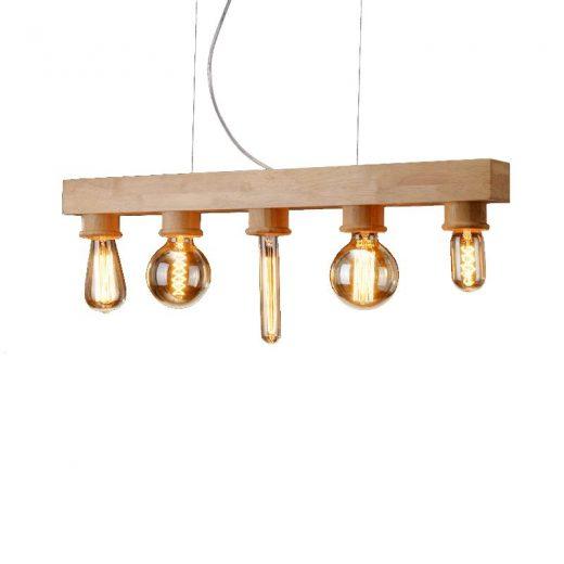 Závesné originálne drevené svietidlo - FIXTURE (1)