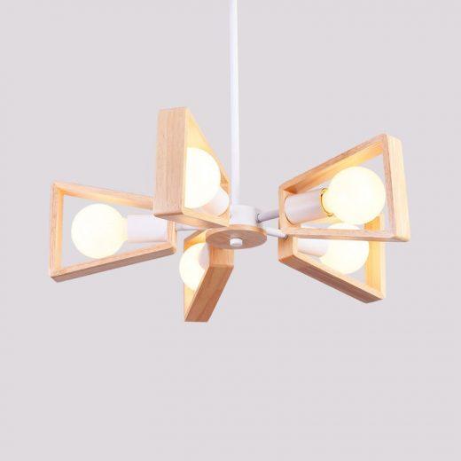 Závesné originálne drevené svietidlo - WHITE FAN