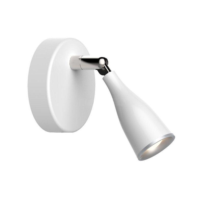 Jednoduché 4.5W LED nástenné svietidlo WHITE BLACK, teplá biela