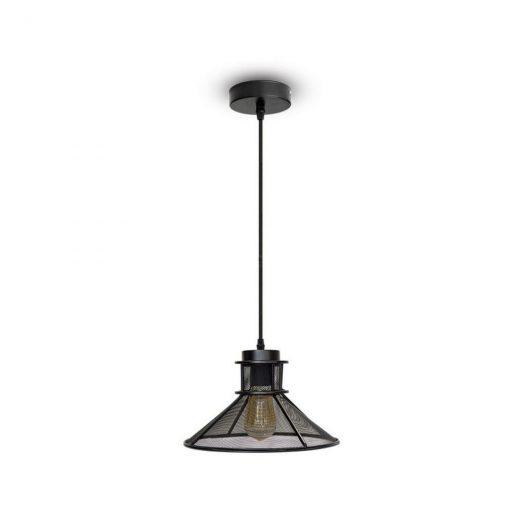 Kovové historické svietidlo závesné v čiernej farbe je vhodné ako dekorácia doobývacej izby, kuchyne, jedálne, spálne, reštaurácie, baru v historickom vzhľade