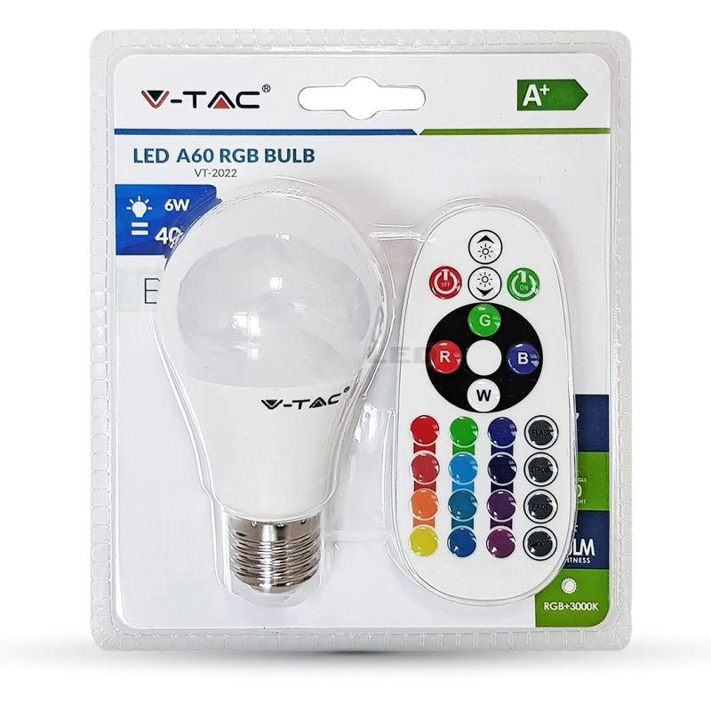 LED žiarovka na diaľkové ovládanie, E27, 6W, 2700K