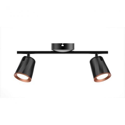 Luxusné 12W LED nástenné svietidlo BLACK DOUBLE WALL, studená biela