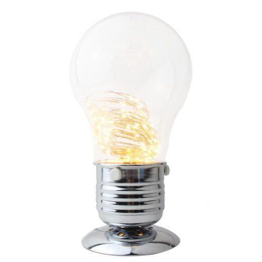 Kreatívna LED stolová lampa v tvare žiarovky. Stolové lampysúdokonalým pomocníkom na Váš pracovný stôl. (3)