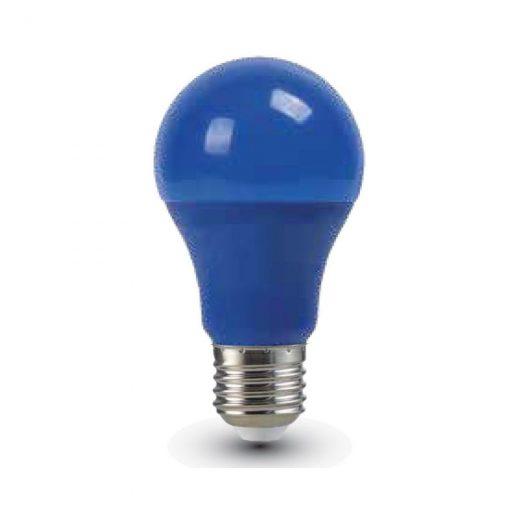 LED žiarovka s farebným krytom - E27, 9W, Modrá farba, 806lm