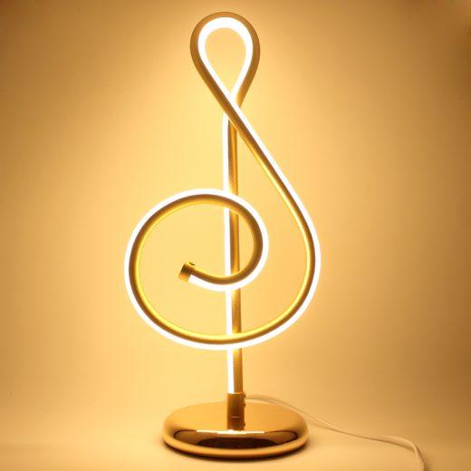 Moderná LED stolová lampa NOTA v zlatej farbe s LED pásom. Stolové lampysúdokonalým pomocníkom na Váš pracovný stôl (5)