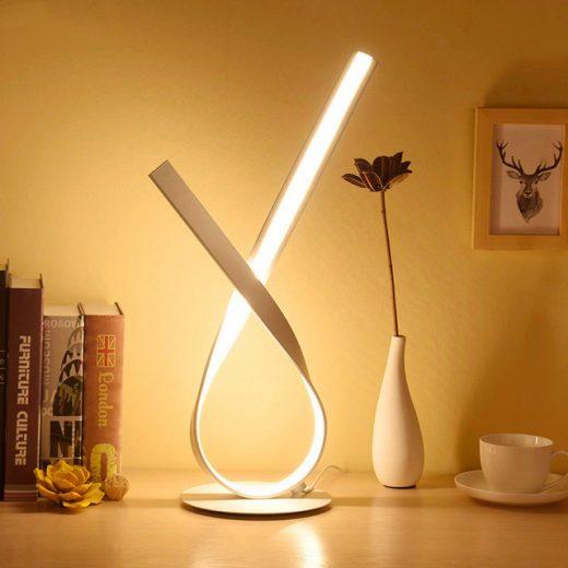 Moderná LED stolová lampa SLUČKA v zlatej farbe