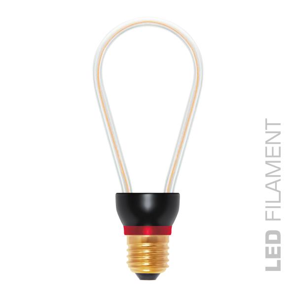 Umelecká LED ART žiarovka - RUSTIKA, E27, 8W, 2200K, 300lm