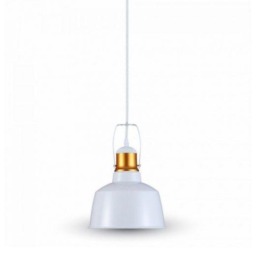Hliníkové historické svietidlo závesné, biela farba. Historické závesné svietidlá sú dnes zárukou obdivu v každej domácnosti (1)
