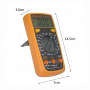 Digitálny multimeter s LED podsvietením - LODESTAR. Univerzálny digitálny MultiMeter s LED podsvietením. Elektrický tester odporu, Prudové napätie, Kapacitant, Diagnostický prístroj. (1)