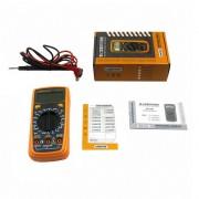 Digitálny multimeter s LED podsvietením - LODESTAR. Univerzálny digitálny MultiMeter s LED podsvietením. Elektrický tester odporu, Prudové napätie, Kapacitant, Diagnostický prístroj. (2)