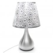 Moderná stolová lampa s dekoračným tienidlom a stmievačom nažiarovkutypu E27. Táto stolová lampa je vyrobená z kvalitnej chirurgickej ocele
