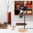 Originálna stolová lampa so stmievačom v štýle Reflektora nažiarovkutypu E27.Táto stolová lampa je vyrobená ručne z kvalitného dreva (1)
