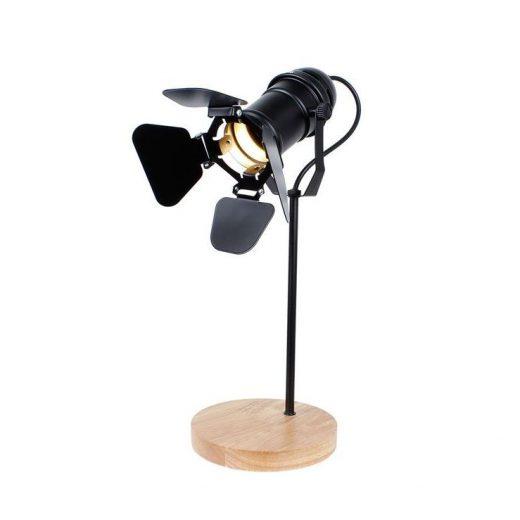 Originálna stolová lampa so stmievačom v štýle Reflektora nažiarovkutypu E27.Táto stolová lampa je vyrobená ručne z kvalitného dreva (2)