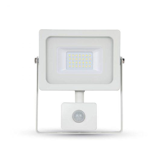 20W LED SMD Reflektor so senzorom pohybu, Studená biela, biely. Okrem úspory energie nám poskytneživotnosť až do50 000 hodín, čo zabezpečí rýchly návrat investície.